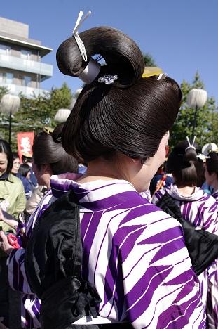 東京時代まつりで、大奥御殿女中になる: 綿柿